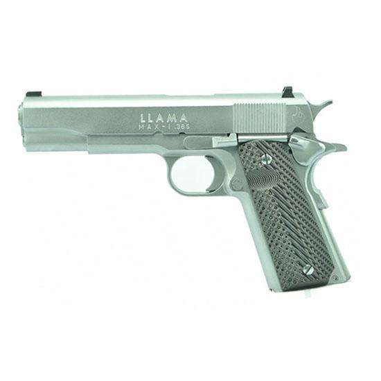 Llama LM138SC 1911 Max-I Single 38 Super 5 9+1 Hardwood w|MAC Logo Grip Chrome Hard in.