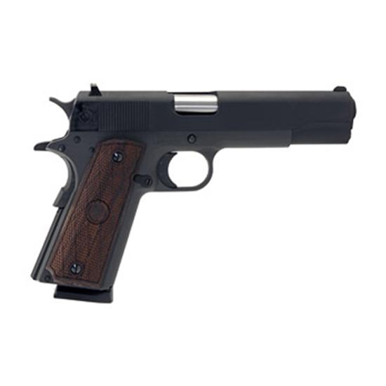 Llama LM145B 1911 Max-I Single 45 Automatic Colt Pistol (ACP) 5 8+1 Hardwood Grip Blued in.