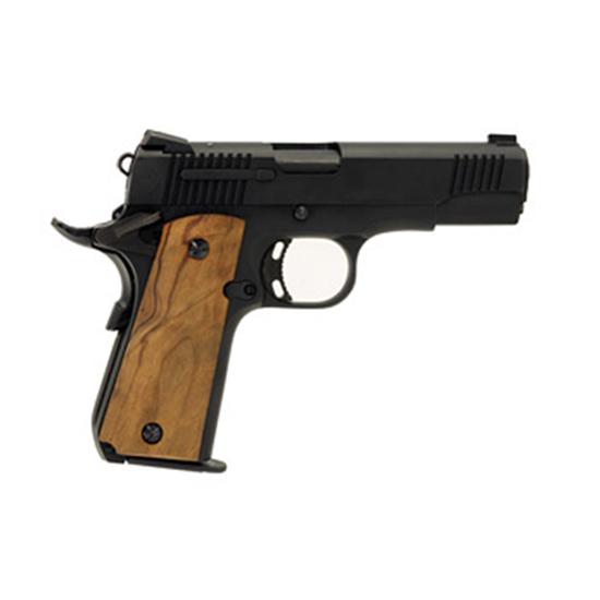 Llama LMM380B 1911 Micromax Single 380 Automatic Colt Pistol (ACP) 3.75 7+1 Black Polymer Grip Black in.