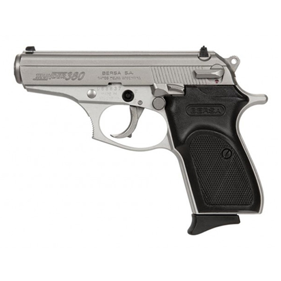 Bersa T380NKL8 Thunder 380 Single|Double 380 Automatic Colt Pistol (ACP) 3.5 8+1 Black Polymer Grip Nickel in.