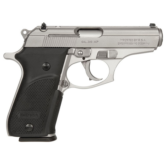 Bersa THUN380PNKL1 Thunder 380 Plus 380 Automatic Colt Pistol (ACP) Single|Double 3.5 15+1 Black Rubber Grip Nickel in.
