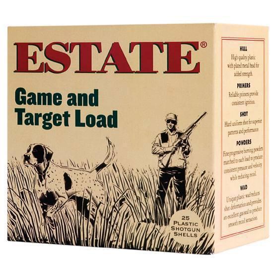 Estate GTL208 Promo Game & Target 20 Ga 2.75 7|8 oz 8 Shot 25 Bx| 10 in.