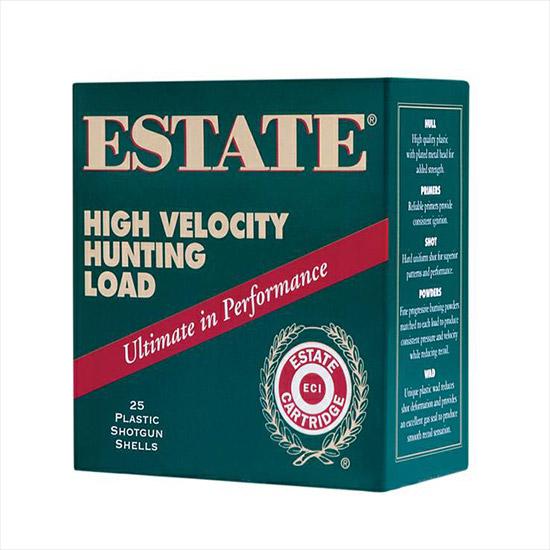 Estate HV128 High Velocity Hunting Loads 12 Ga 2.75 1-1|4 oz 8 Shot 25 Bx| 10 in.