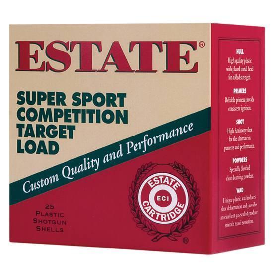 Estate SS12H Super Sport Target 12 ga 2.75 1-1|8oz 7.5 Shot 25Box|10Case in.