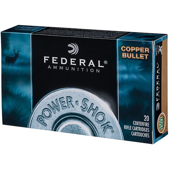 Federal 270130LFA Power-Shok Rifle 270 Winchester 130 GR Copper Hollow Point 20 Bx| 10 Cs