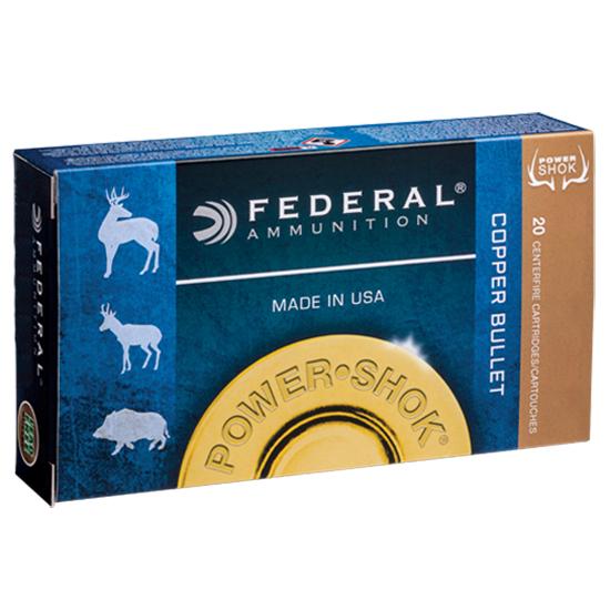 Federal A300W180LFA Power-Shok Rifle 300 Winchester Magnum 180 GR Copper Hollow Point 20 Bx| 10 Cs