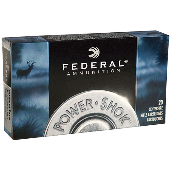 Federal 303AS Power-Shok Rifle 303 British 180 GR Jacketed Soft Point 20 Bx| 10 Cs