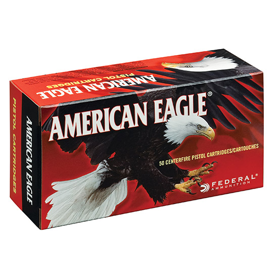 Federal AE40R2 American Eagle Handgun 40 Smith & Wesson (S&W) 155 GR Full Metal Jacket 50 Bx| 20 Cs