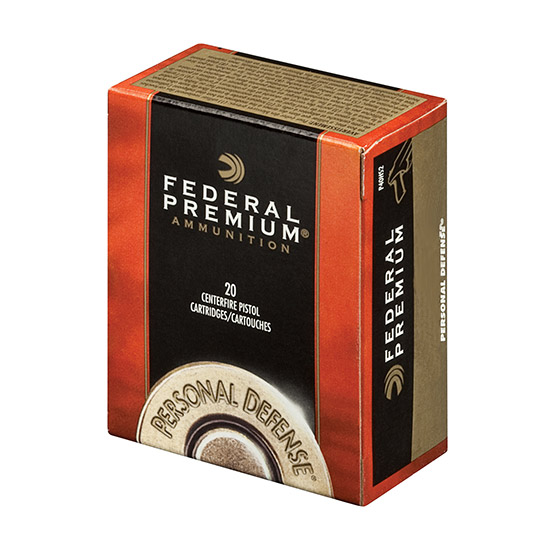 Federal Personal Defense, .45 ACP, JHP, 185 Grain, 20 Rounds
