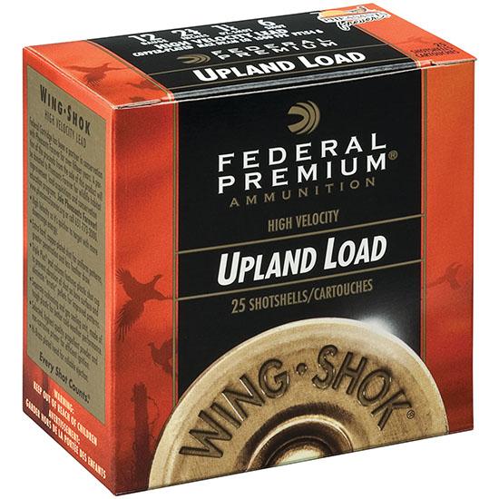 Federal Cartridge P1584 12 Gauge Premium Wing-Shok, 3 in. , #4 Lead Shot, Per 25