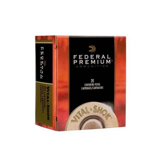Federal P44SA Premium Handgun 44 Remington Magnum 280 GR Swift A-Frame 20 Bx| 10 Cs
