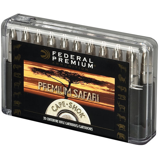Federal P458SA Premium Safari Cape-Shok 458 Winchester Magnum 500 GR Swift A-Frame 20 Bx| 10 Cs