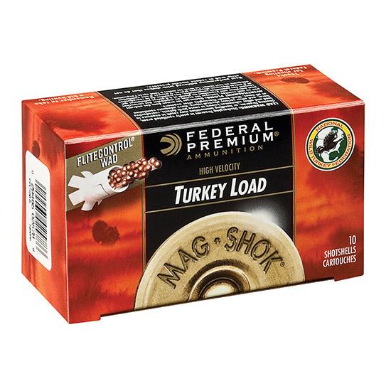 12 Gauge - 3 in.  2 oz. #6 Shot -A�Federal Mag-Shok Turkey Load - 10 Rounds