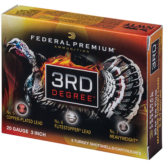 12 Gauge - 3 in.  1-3|4 oz. #5|6|7 Shot - Federal 3rd Degree - 5 Rounds