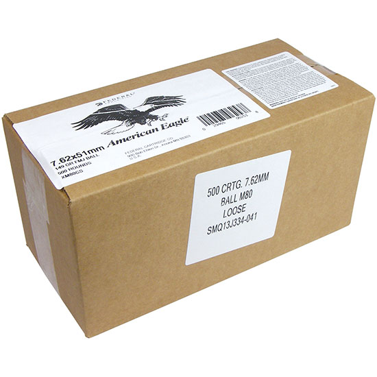 7.62x51mm - 149 gr FMJ XM80CS - Federal - 500 Rounds Loose