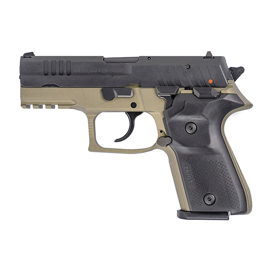 Arex REXZERO1CP03 Rex Zero 1 Compact 9mm Luger Single|Double 3.85 15+1 Black Synthetic Grip Flat Dark Earth Hardcoat Anodized 7075 Aluminum Frame Black Slide in.