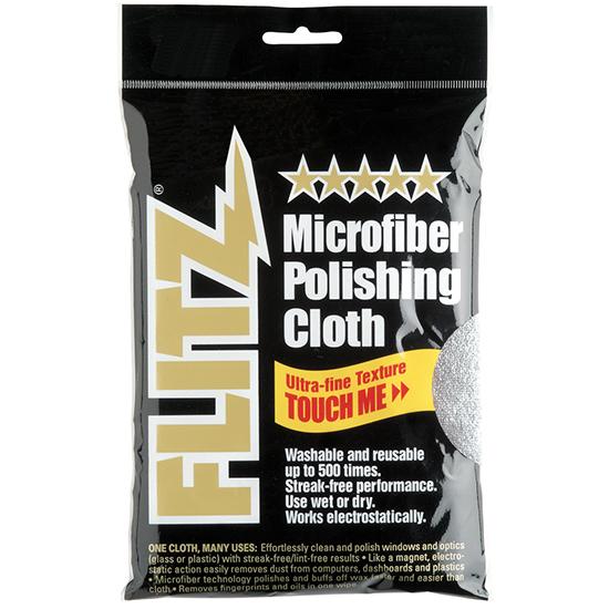 Flitz MC200 Microfiber Polishing Cloth 16x16 in.  Gray in.