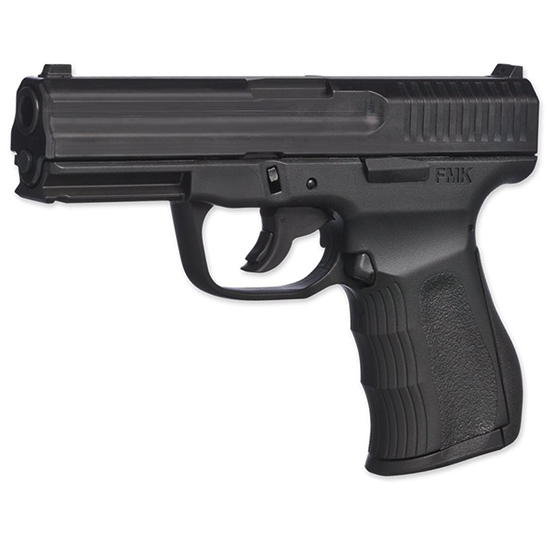 FMK G9C1G2 9C1 G2 FAT Single 9mm Luger 4 14+1 Black Polymer Grip|Frame Black Carbon Steel in.