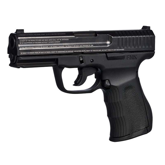 FMK G9C1G2ECM 9C1 G2 Engraved *State Approved* Double 9mm Luger 4 10+1 Black Polymer Grip Frame Black Engraved in.