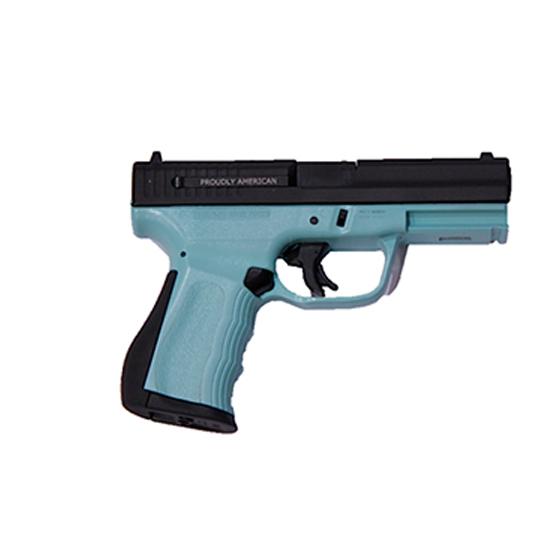 FMK FMKG9C1G2ETB 9C1 G2 FAT Engraved Single 9mm Luger 4 14+1 Blue Jay Blue Polymer Grip Frame Black Engraved in.