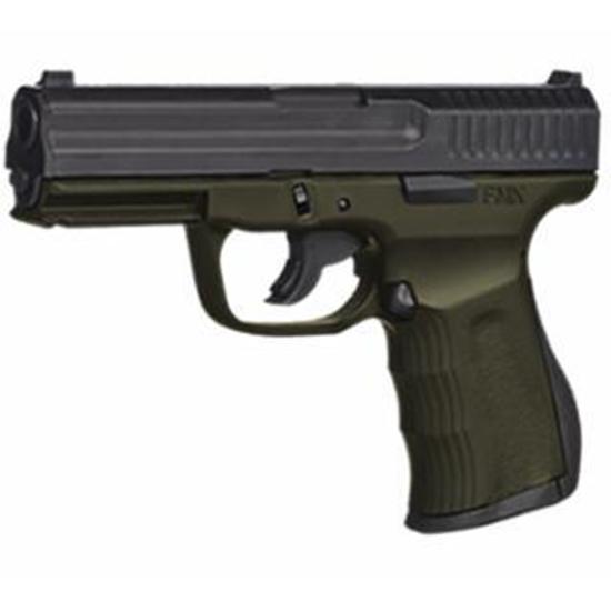 FMK G9C1G2OD 9C1 G2 FAT Single 9mm Luger 4 14+1 OD Green Polymer Grip|Frame Black Carbon Steel in.