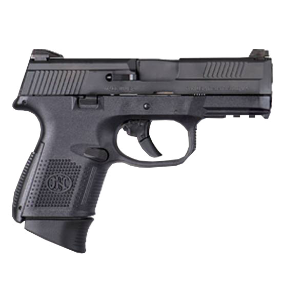 FN 66721 FNS 40 Compact 40 Smith & Wesson (S&W) Double 3.6 10+1|14+1 NMS Black Interchangeable Backstrap Grip Black Stainless Steel Slide in.