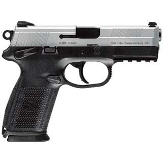 FN 66826 FNX 9 Single|Double 9mm Luger 4 17+1 3 Mags Black Interchangeable Backstrap Grip Stainless Steel in.