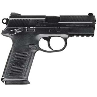 FN 66836 FNX-9 Single|Double 9mm Luger 4 10+1 3 Mags Black Interchangeable Backstrap Grip Black Stainless Steel in.
