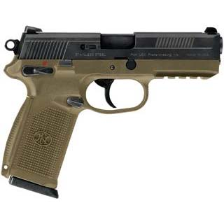 FN 66965 FNX 45 Single|Double 45 Automatic Colt Pistol (ACP) 4.5 10+1 3 Mags Flat Dark Earth Interchangeable Backstrap Grip Black Stainless Steel in.
