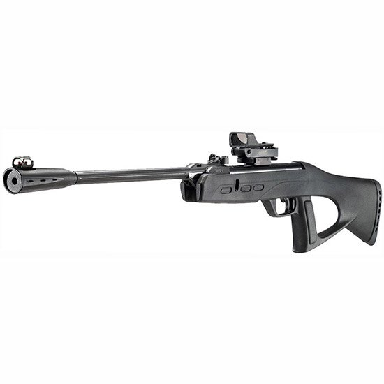 Gamo 6110026154 Recon G2 Whisper Air Rifle with Red Dot Illuminated Green Break Open .177 Pellet 18 Black All Weather in.