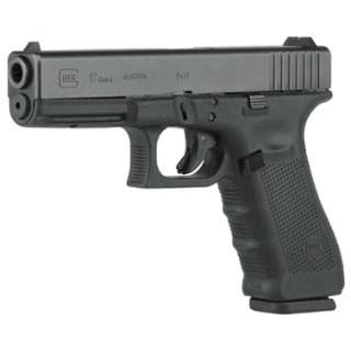 Glock PG1750201 G17 Gen4 Double 9mm Luger 4.48 10+1 FS Black Interchangeable Backstrap Grip Black in.