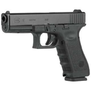 Glock PI1750201 G17 Gen3 *CA Compliant* Double 9mm Luger 4.48 10+1 FS Black Polymer Grip|Frame Black in.