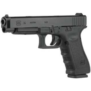 Glock PI3430101 G34 Standard *CA Compliant* Double 9mm Luger 5.31 10+1 Black Polymer Grip|Frame Grip Black in.