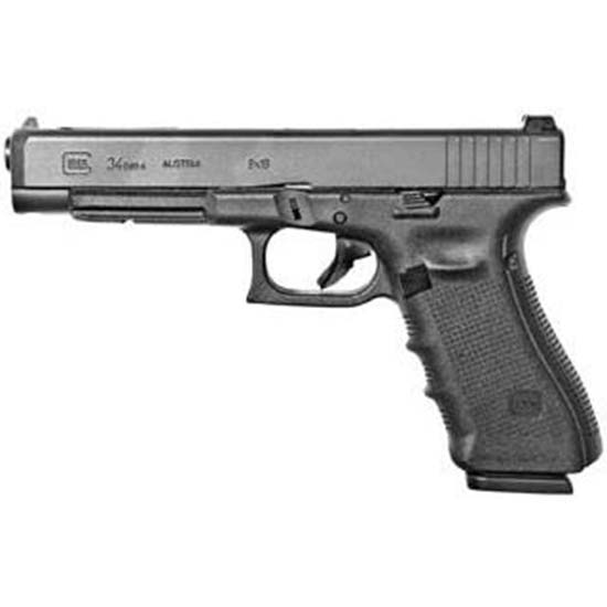 Glock UG3430101MOS G34 Gen4 Competition MOS Double 9mm Luger 5.31 10+1 AS Black Interchangeable Backstrap Grip Black in.