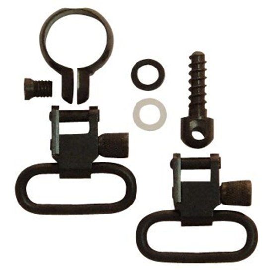 Grovtec US Inc GTSW41 Swivel Set Full Band 1 Lever Action Black Steel in.