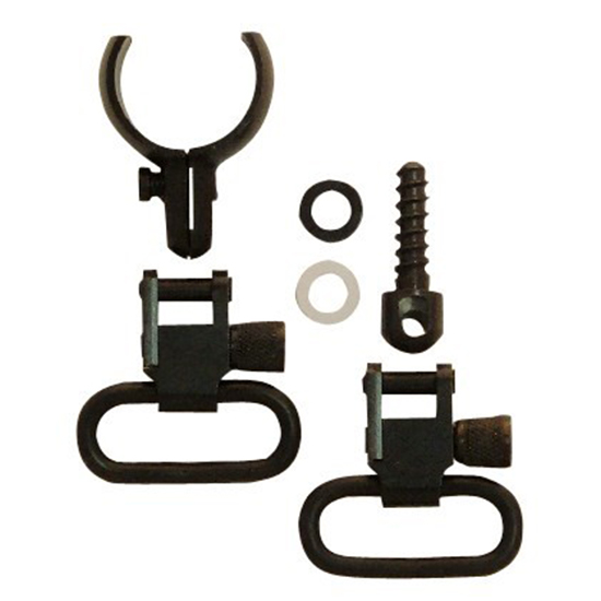 Grovtec US Inc GTSW46 Swivel Set 2 Piece Barrel Band 1 .800 in. -.850 in.  Rifle Barrels Black Steel in.