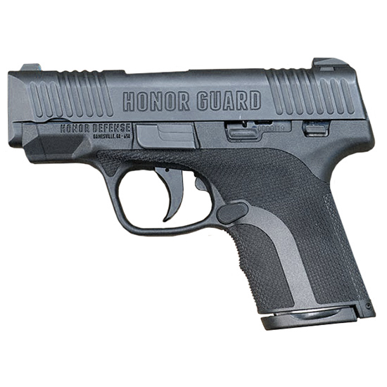 Honor Defense HG9SC Honor Guard Sub-Compact Double 9mm +P 3.2 7+1|8+1 Black Polymer Grip Black in.