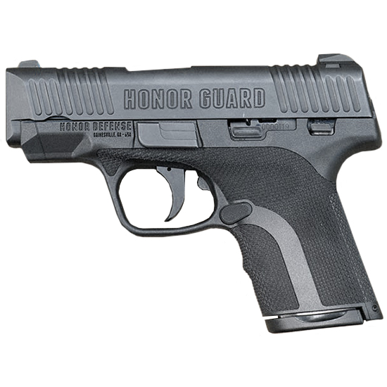 Honor Defense HG9SCLS Honor Guard Sub-Compact Long Slide Double 9mm +P 3.8 7+1|8+1 Ambi Safety Black Polymer Grip Black in.
