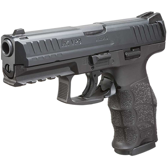 HK 700009A5 VP9 9mm *MA Compliant* 9mm Luger Double 4.09 10+1 Black Interchangeable Backstrap Grip Black Slide in.
