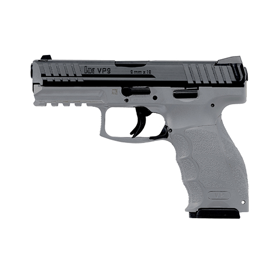 HK 700009GYLELA VP9 *MA Compliant* 9mm Luger Double 4.09 10+1 Gray Interchangeable Backstrap Grip Black Slide in.