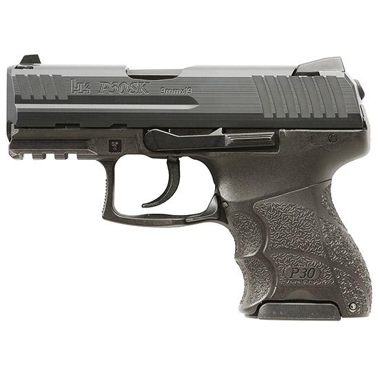 HK 730901KLEA5 P30SK V1 Lite LEM 9mm Luger Double 3.27 10+1 Black Interchangeable Backstrap Grip Black Slide in.