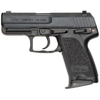 HK M704031A5 USP40C V1 40 Smith & Wesson (S&W) Single|Double 3.58 12+1 Black Polymer Grip|Frame Grip Blued Steel Slide in.