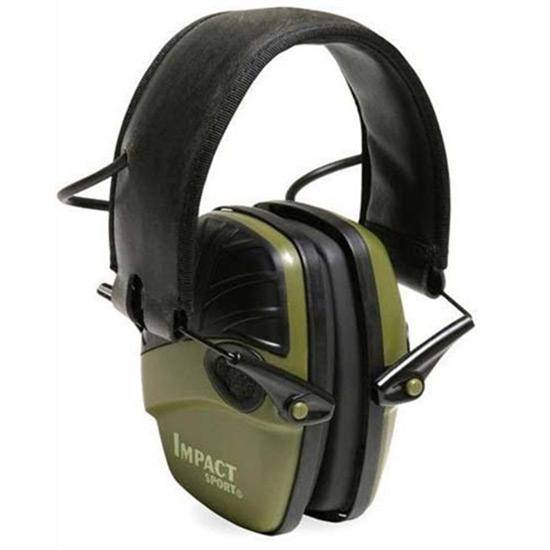 Howard Leight R01526 Impact Sport Electronic Muffs 22 dB Black|Green