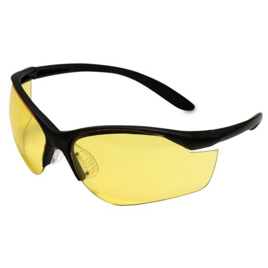 Howard Leight R01536 Vapor II Shooting|Sporting Glasses Black Frame|Amber Lens