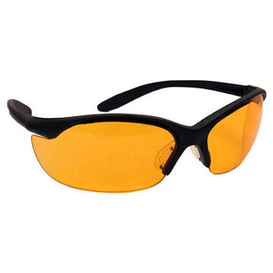 Howard Leight R01537 Vapor II Shooting|Sporting Glasses Black Frame|Orange Lens