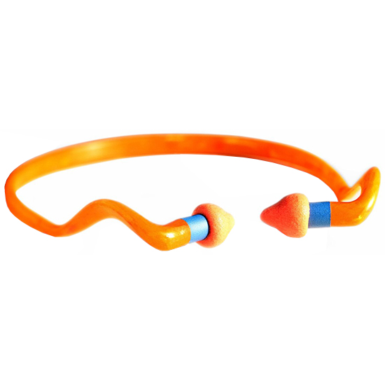 Howard Leight R01538 Multiple Use Quiet Band Earplugs 25 dB Orange