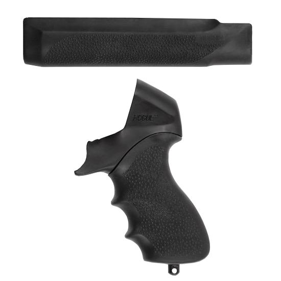 Hogue 05015 OverMolded Tamer Shotgun Pistol Grip|Forend Mossberg 500 Rubber Black