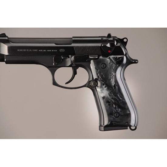 Hogue 92418 Beretta 92 Polymer Grip Panels Black Pearl