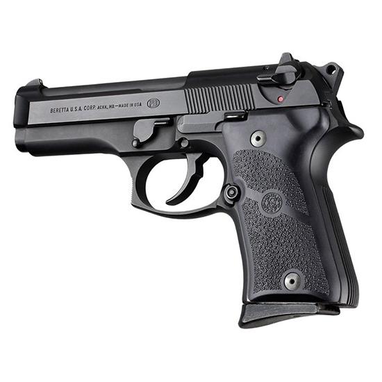 Hogue 93010 Rubber Grip Panels  Beretta 92 Compact Black