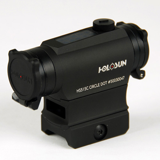 Holosun PARALOW Circle Dot Sight w/High mount, Black, HS515C